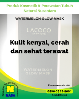 Watermelon Glow Mask Lacoco Shiny, Glowing dan Melembabkan