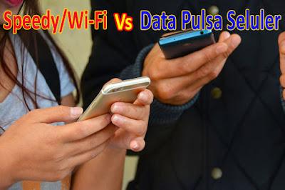 Perbandingan Wi-Fi dengan Paket Kuota Internet.