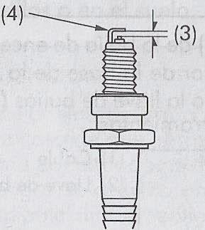 Separacion de los electrodos de la bujia de encendido