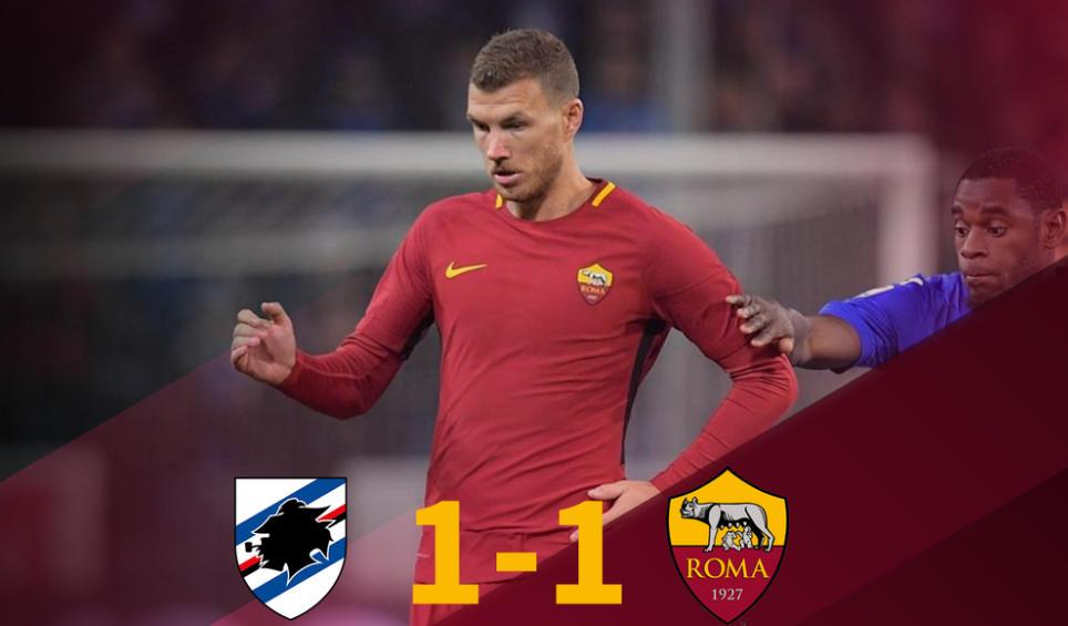 Sampdoria-Roma: risultato del recupero di Serie A firmato da Quagliarella e Dzeko