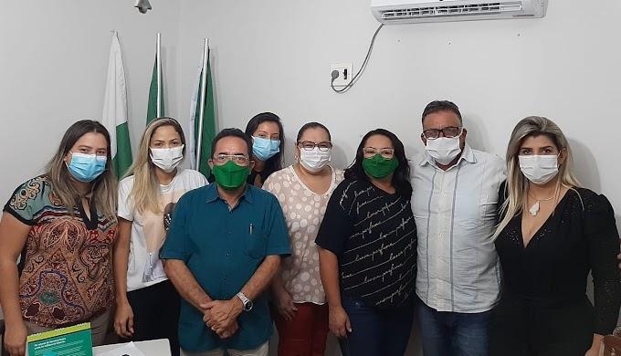 Prefeita Sandra é recebida pelo prefeito Miguel Pinheiro e fecham parcerias, inclusive na saúde