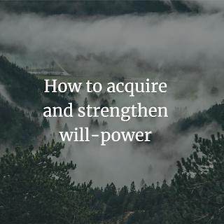 strengthen will-power
