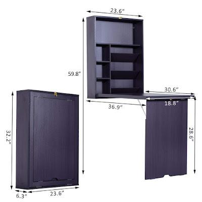 خزانة صغيرة, خزانة قابلة للطي, مكتب قابل للطي