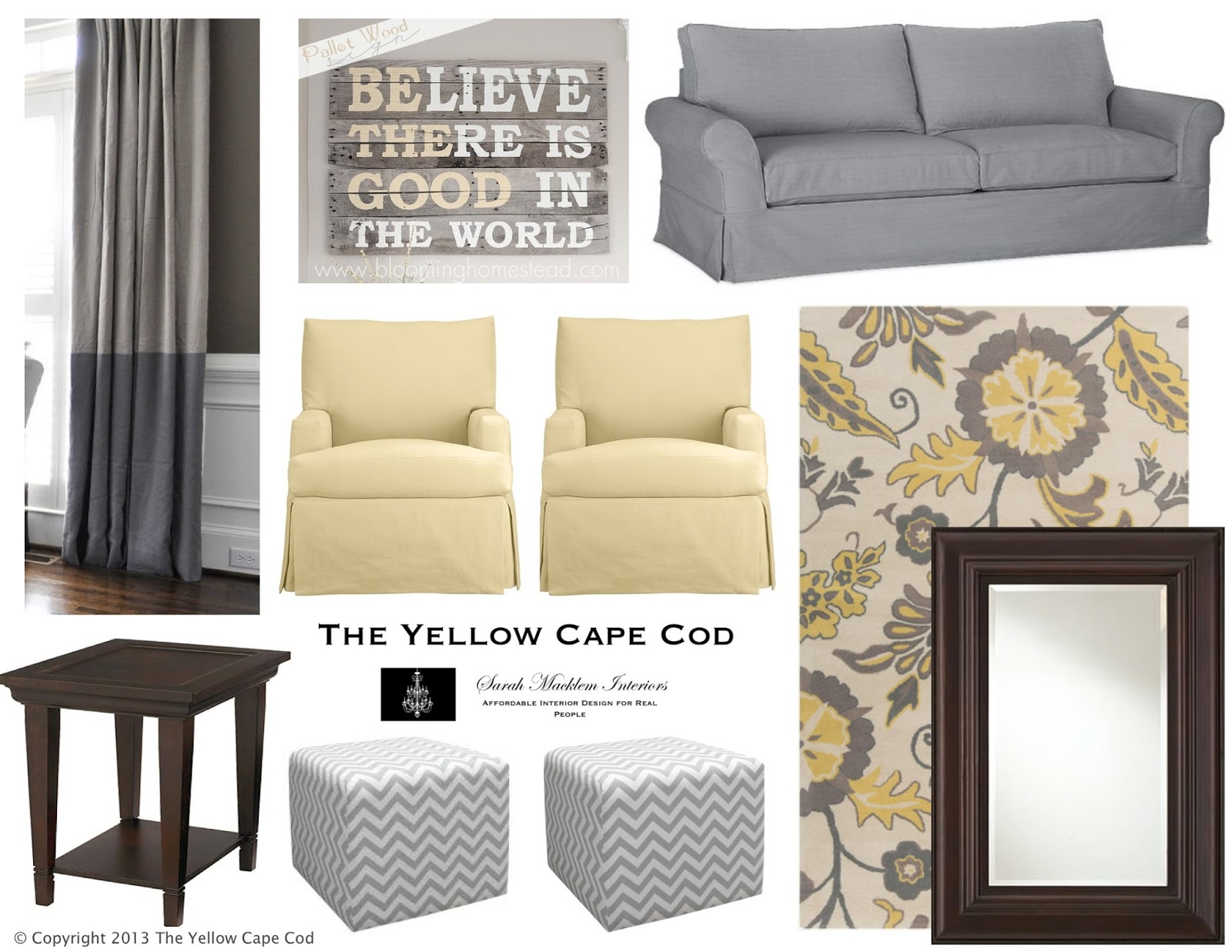Lemon And Gray Rug Two Toned D