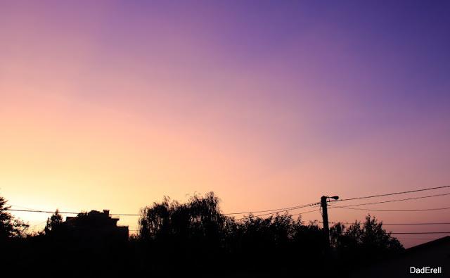Ciel de matin de canicule