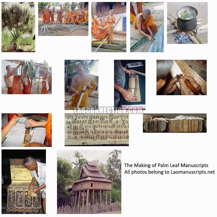 The Making of Palm Leaf Manuscripts in Laos (bailan bylan)