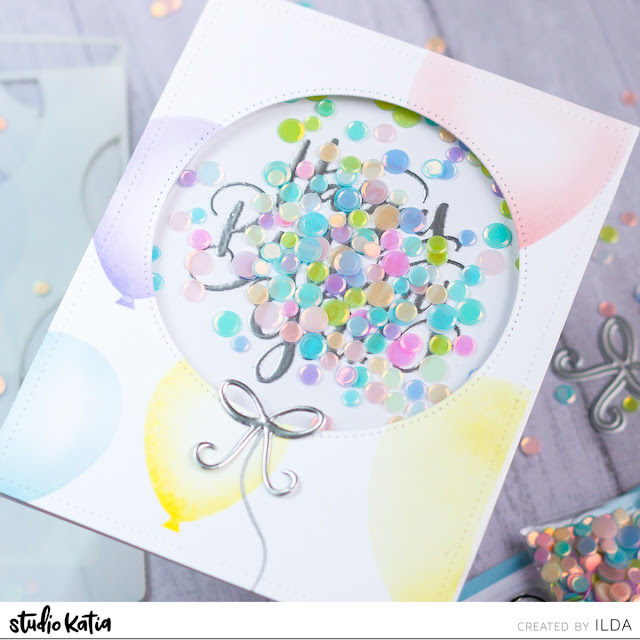 Happy Birthday to You Balloon Shaker Card | Studio Katia by ilovedoingallthingscrafty.com