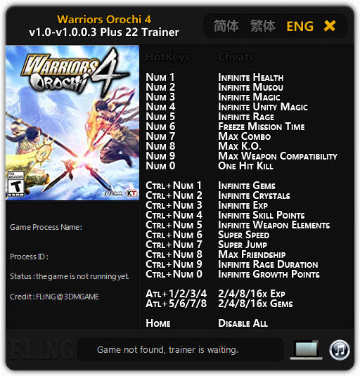 Warriors Orochi 4 Pc Update Download: Pc Save Games Trainer Download: Trainer Game W