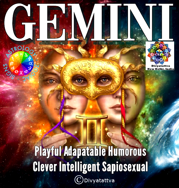 Free Gemini zodiac personality analysis, Mithun Rashi men & women nature and characteristics and Gemini astrology online
