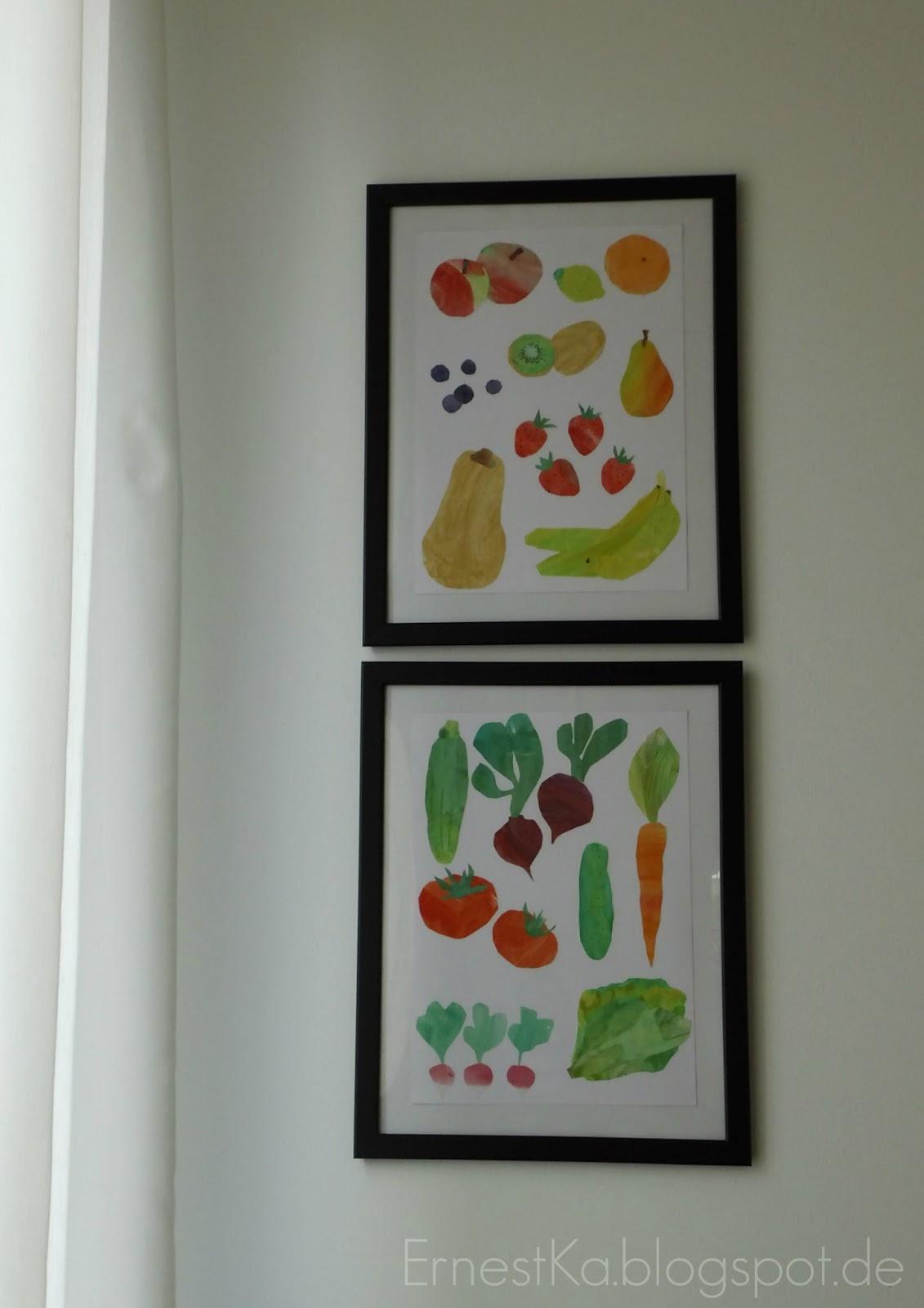 ErnestKa: Junges Gemüse- Lustige Obst & Gemüse-Collage à la Eric Carle