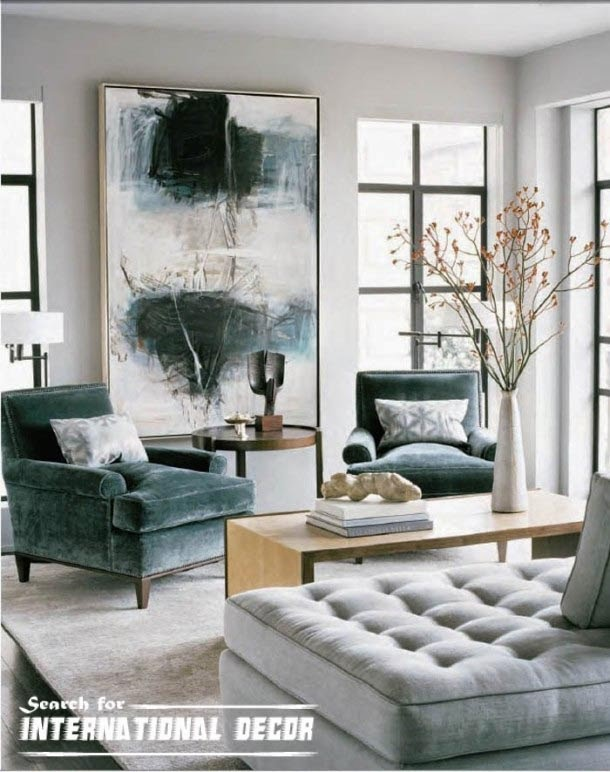 contemporary interior design, contemporary living room, modern art painting