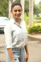 Rakul Preet Singh in Jeans and White Shirt At Jaya Janaki Nayaka le Logo Launch ~  Exclusive 027.JPG