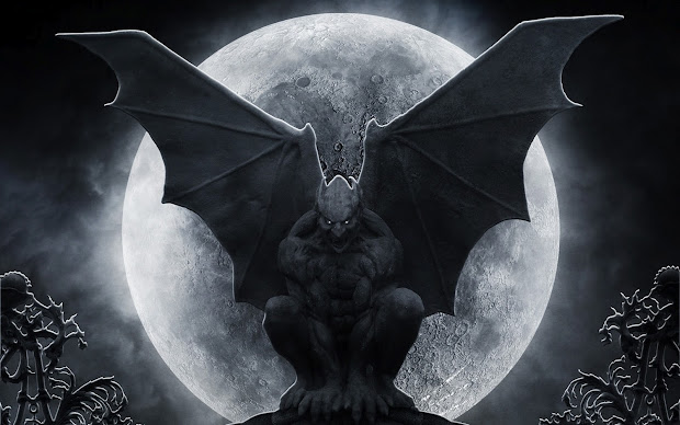 Gargoyle Dark Scary Backgrounds