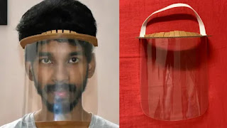 Engineering student gets copyright for biodegradable face shield design which costs just Rs 15