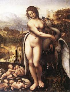 Ato I Cena VI - leda-and-the-swan-1505-1510 - Leda e o Cisne - - Livro Pequeno Teatro da Ilíada e Odisseia - Teatro completo para o ensino fundamental