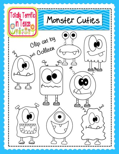 http://www.teacherspayteachers.com/Product/Monster-Cuties-Clip-Art-1231089