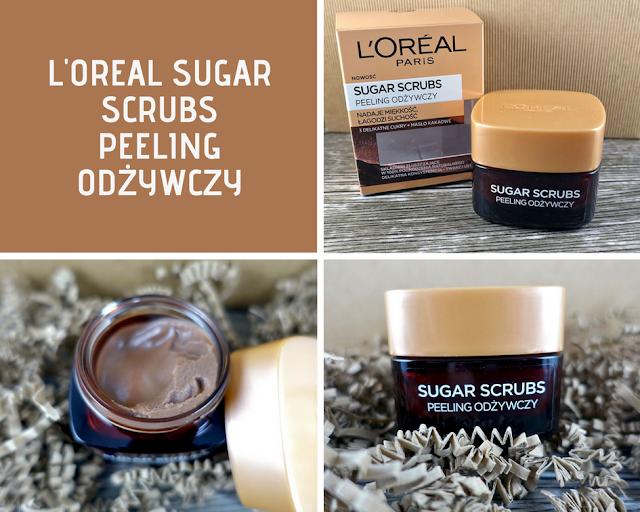 loreal sugar scrubs peelingi do twarzy peeling odzywczy