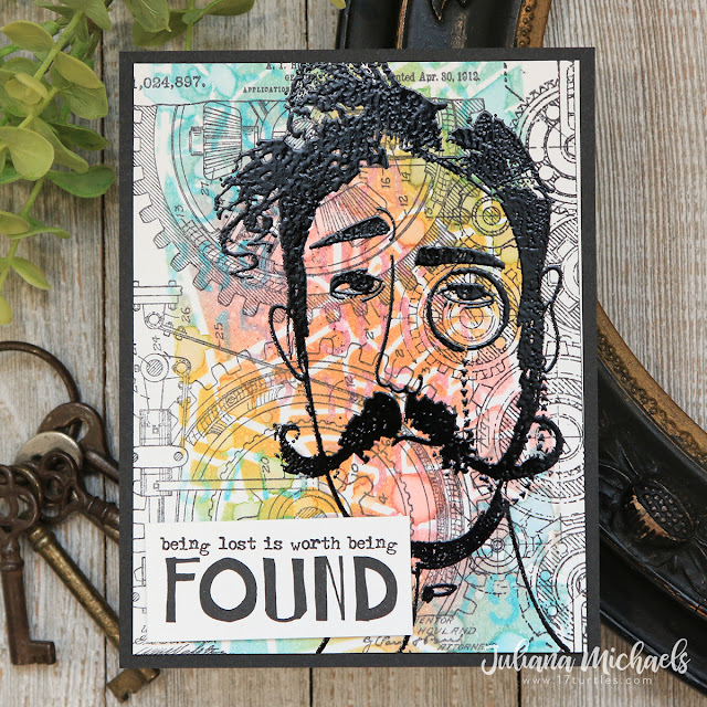 Found Card by Juliana Michaels featuring Tim Holtz Stampers Anonymous Observations Stamp Set