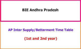 AP Inter Supply Exam Time Table 2021
