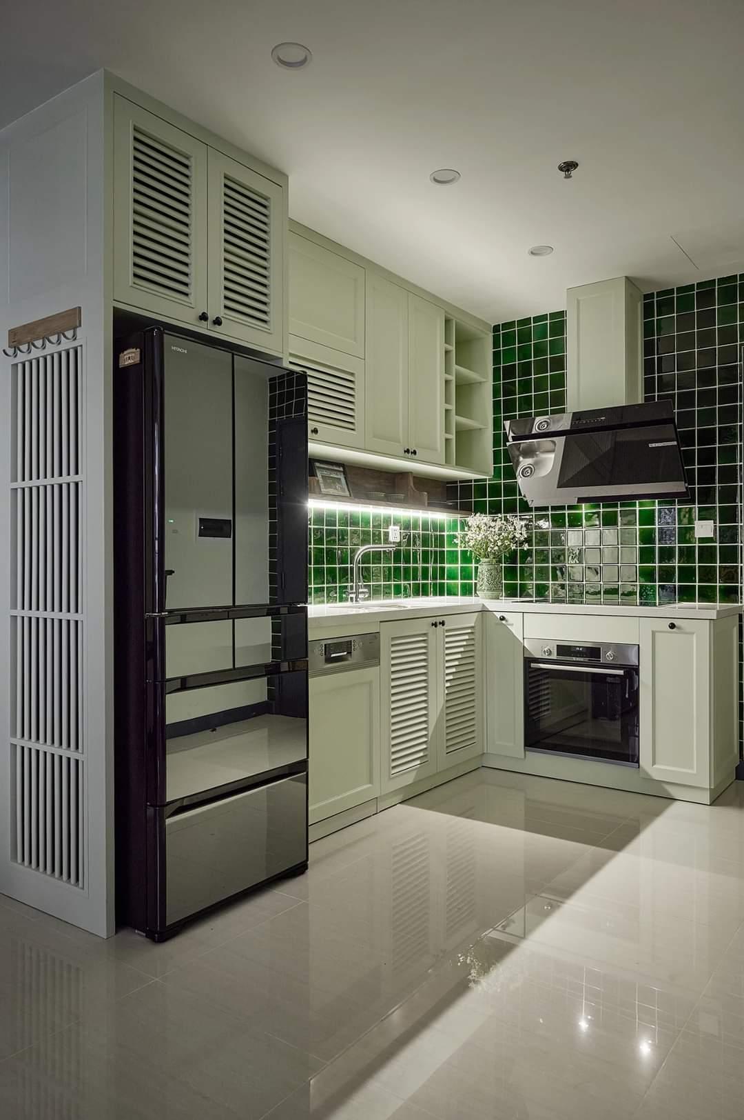 Hinh ảnh thực tế nội thất căn hộ 55m2 Vinhomes Ocean Park theo phong cách Indochine