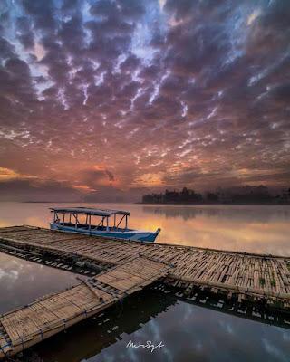 Foto Sunset Kapal Situ Cileunca