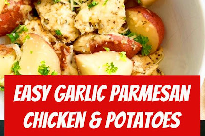 Easy Garlic Parmesan Chicken & Potatoes #slowcooker #crockpot #instantpot