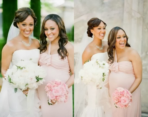 bride and maternity bridesmaids