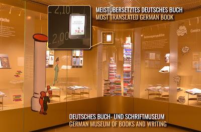 """Meistübersetzte deutsche Bücher im Deutschen Buch- und Schriftmuseum (1. Platz für das Bilderbuch """"Bin ich klein?"""" mit über 200 Sprachen und Dialekten)"""