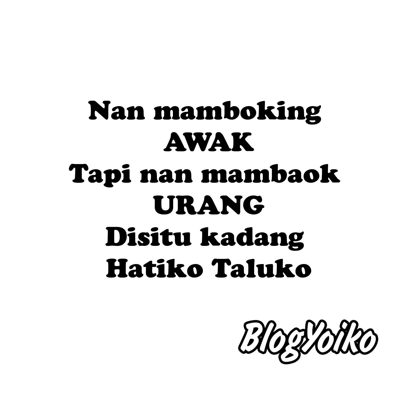DP BBM Gambar Kata Lucu Bahasa Minang Blogyoikocom