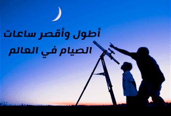 أطول وأقصر ساعات الصيام في العالم رمضان