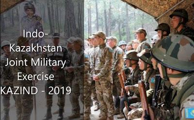 Indo-Kazakhstan Joint Military Exercise KAZIND - 2019