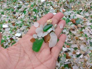 Vidrio pulido por el mar,  Playa de los Cristales, Laxe, A Coruña