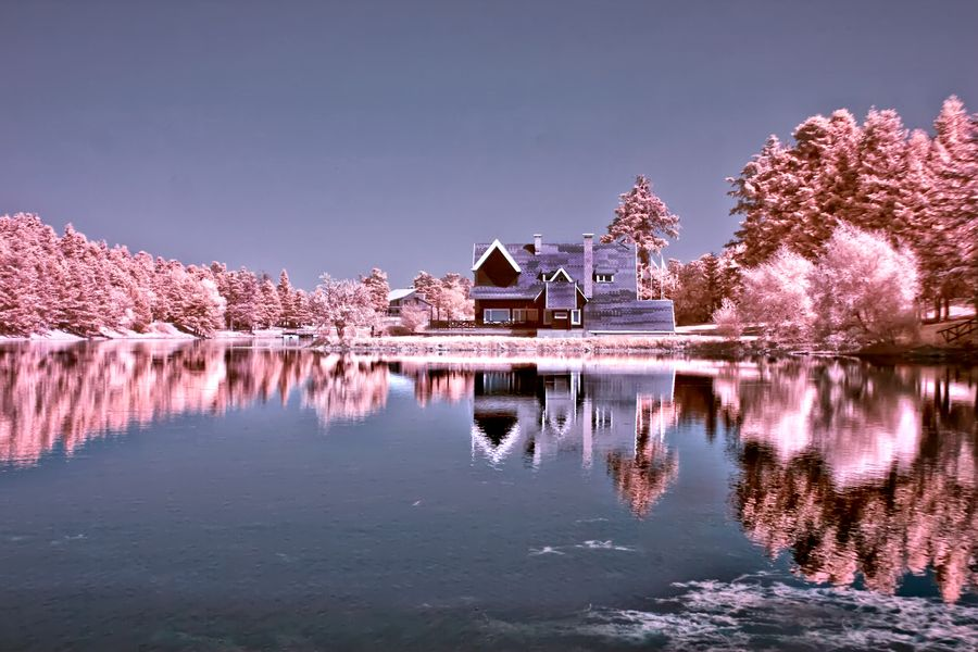 14. Pink House (Infrared.. by Samet Güler