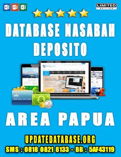 Jual Database Nasabah Deposito Papua