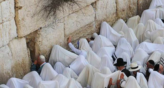 Yom Kippur in the kotel