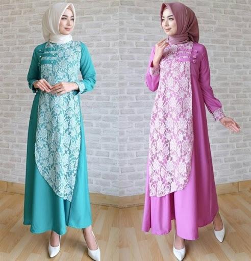 Model Baju Muslim Brokat Terbaru 2017/2018