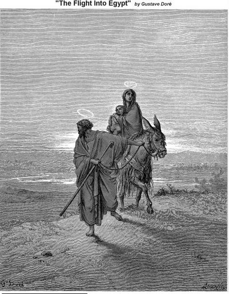 """Flight Into Egypt"" by Gustave Doré"