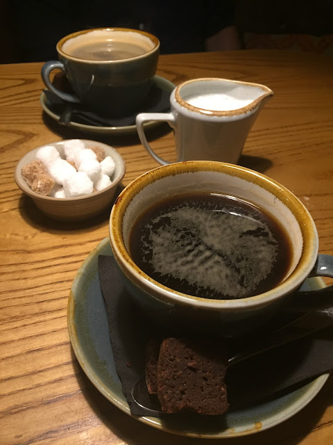 Coffee for two at The Park Pub & Kitchen, Bedford