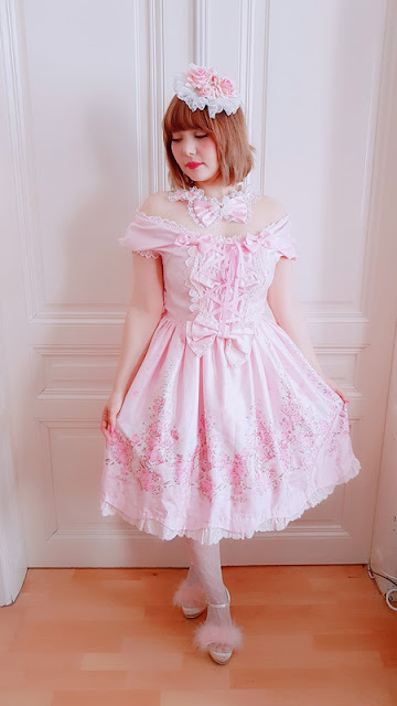 lolita fashion, pastel, kawaii, japanese fashion, jfashion, cute, pastel, rose head dress, baby the stars shine bright, auris lothol, btssb