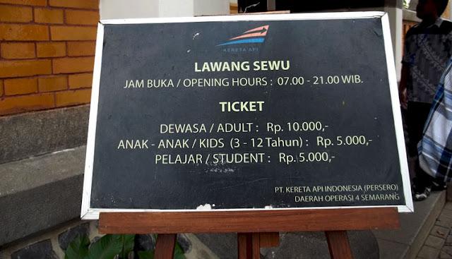 harga tiket masuk lawang sewu wisata semarang