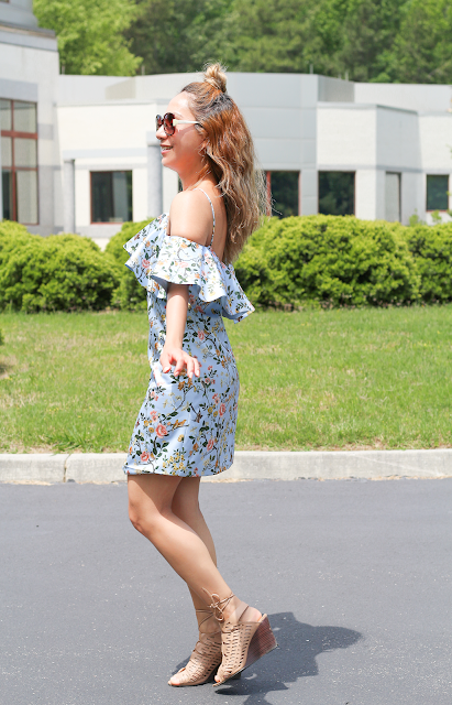 Floral ruffles summer dress