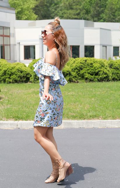 Floral ruffles summer dress