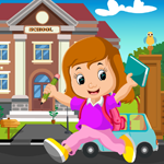 Play Games4King Happy School Girl Rescue