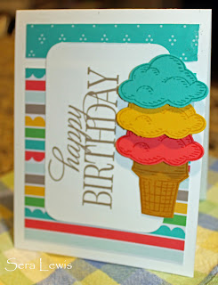 Wish a happy birthday with this summery card that uses Sprinkles of Life and Happy Birthday Everyone
