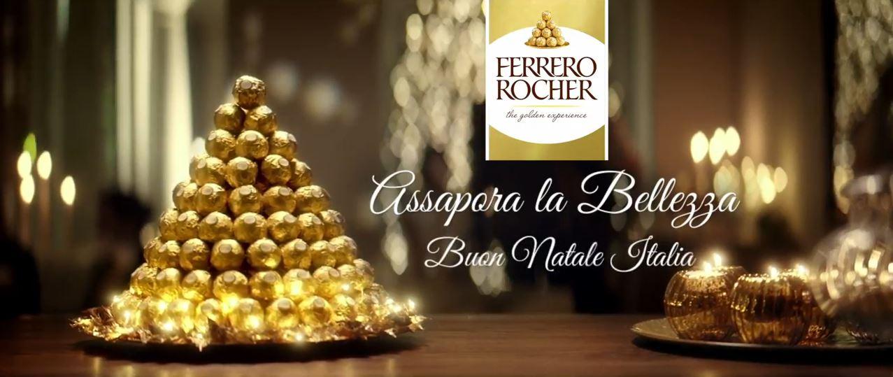 Canzone Ferrero pubblicità Rocher spot Natale e location Napoli-Firenze-Venezia-Roma