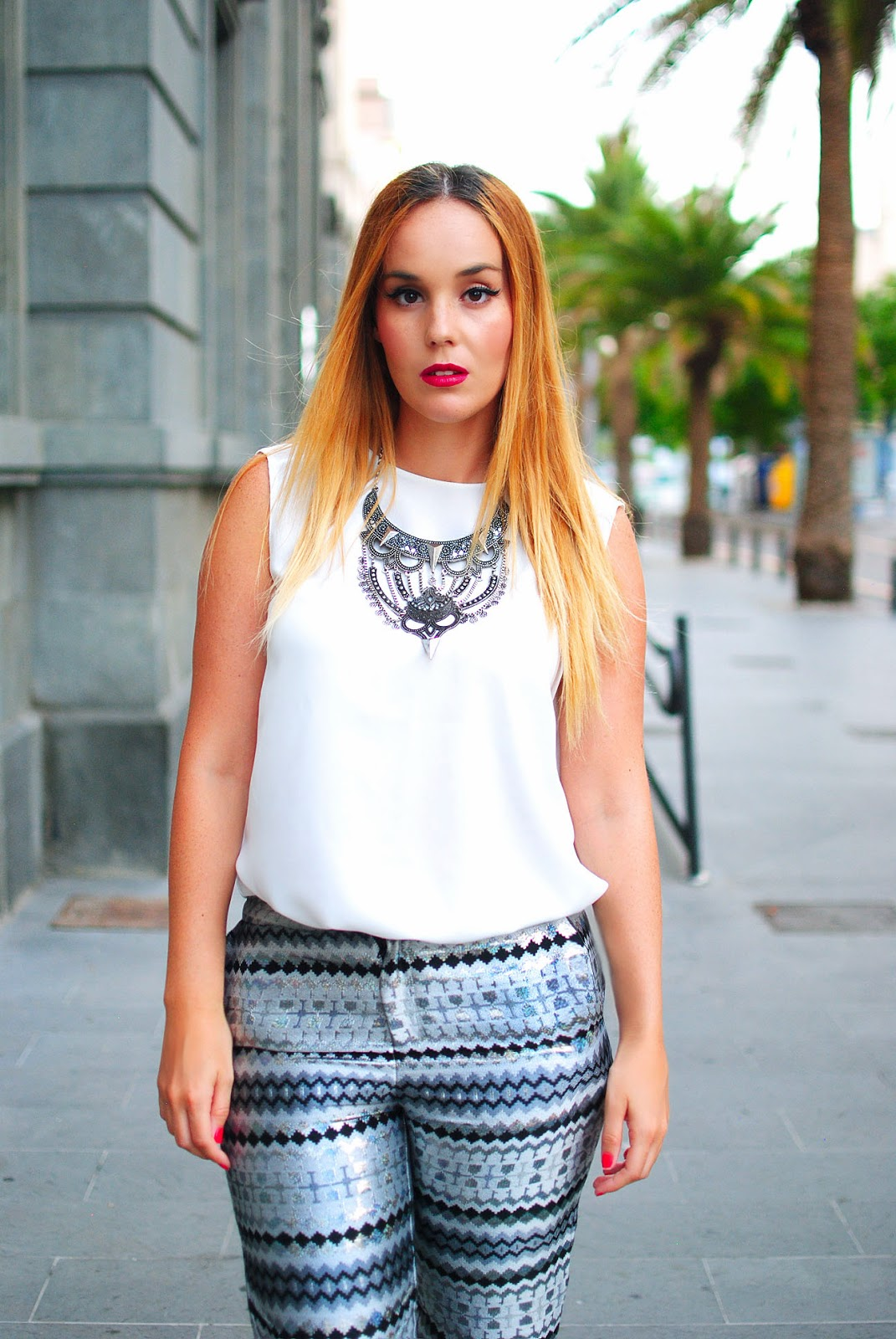 nery hdez, front row shop, primark, silver necklace, blogger de tenerife