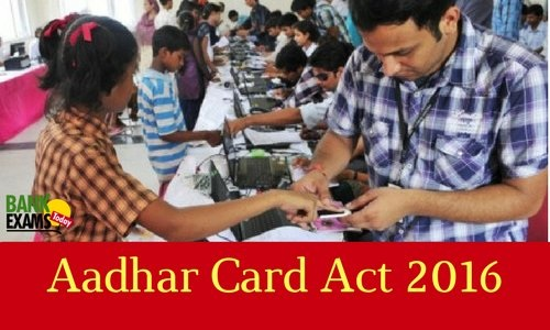 aadhar card act