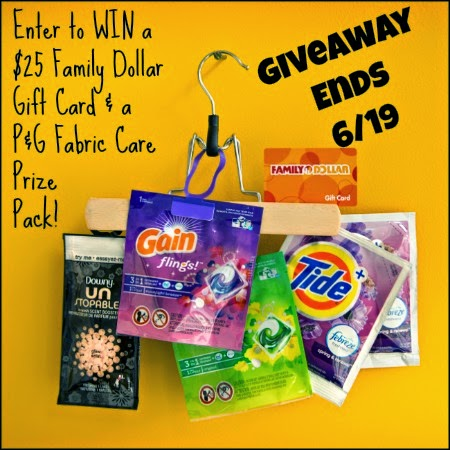 Enter to WIN a $25 Family Dollar Gift Card & a P&G Fabric Care Prize Pack! Giveaway Ends 6/19