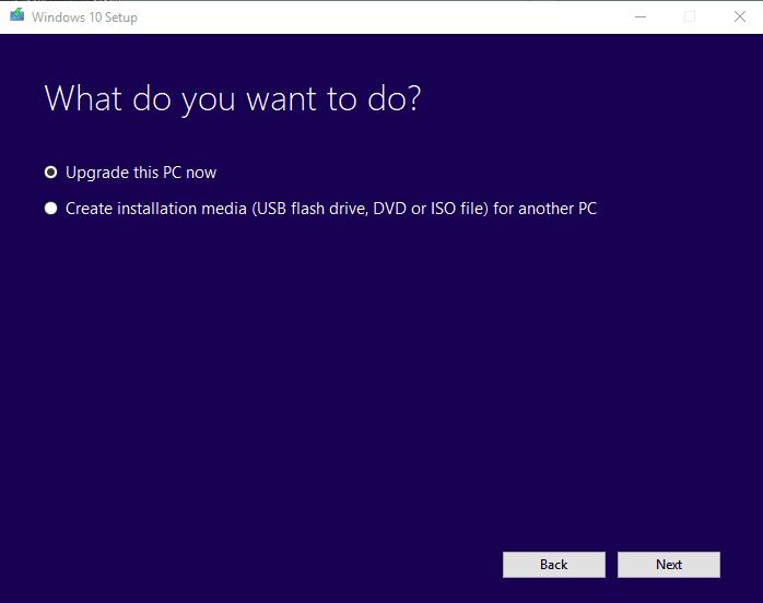 Upgrade to Windows 10