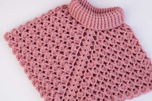 1-Crochet Imagenes Poncho cuello de tortuga a crochet y ganchillo por Majovel Crochet